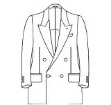 ジャケット 前ボタン数(ダブル) 4つ(1つ掛け / 2つ掛け)