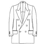 ジャケット 前ボタン数(ダブル) 6つ(1つ掛け / 2掛け)